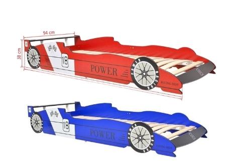 vidaXL 90x200 cm rood / blauw